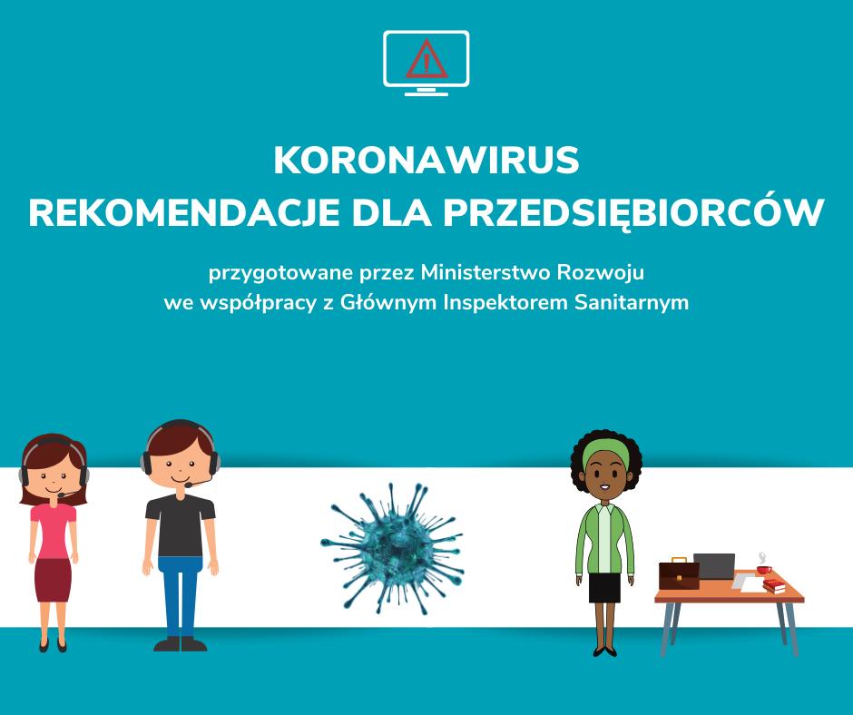 , Zalecenia dla przedsiębiorców wzwiązku zrozprzestrzenianiem się koronawirusa