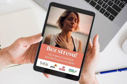 """Raport """"Bez stresu! Jak wspierać kondycję psychiczną pracowników"""" pod patronatem Krajowego Centrum"""
